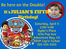 Paw Patrol, Girl Or Boy Digital Birthday Invitation PDF/JPEG Personal Photo