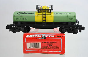 AMERICAN FLYER S SCALE 48406 CELANESE CHEMICALS SINGLE DOME TANK CAR