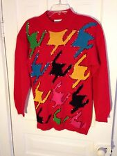 Ugly Christmas Holiday Sweater Sequin Multicolored/Red Festival Size Medium M