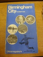 28/02/1970 Birmingham City v Watford  (pin hole, creased, torn/split spine). Unl