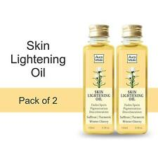 AuraVedic Skin Lightening Oil with Saffron Turmeric Winter Cherry, 100ml x 2