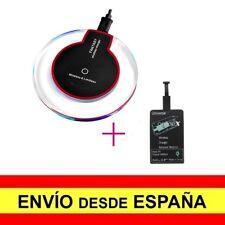 Base Cargador Inalámbico Negro + Adaptador Negro Válido para Android a3538/a3541