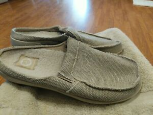 Gecko Man Men's Size 11.5 Casual Slip On Arch Support Slipper Shoes EUC!!! MINT!