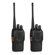 Radio Walkie Talkie 2Pcs Rechargeable Battery Headphone Wall Charger Long Range