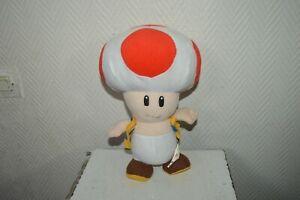 Plush Toad Mushroom Super Mario Officially Licensed NINTENDO 2009 Doll 30 CM