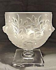 Lalique Crystal Bowl Bird Footed Vase Urn France Vintage Signed Mint