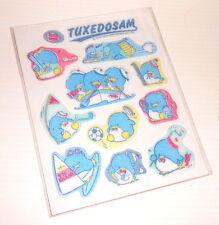 TUXEDOSAM 1986 Sanrio Japan sheet puffy stickers - adesive morbide misb