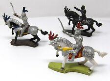 Vintage Cherilea Medieval Knights Cavalry x 3. Rare find.