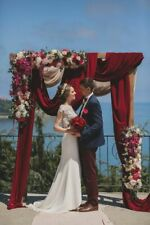 Wedding Arch Baby Shower Birthday Back Drop Fabric Charmeuse 150cm Wide Deep Red