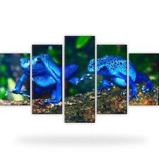 Frösche Tiere Bild Bilder Leinwand Wandbild Kunstdruck 5 Teilig Xxl