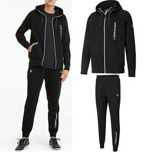 New Men's BMW M Motorsport PUMA Men's Hooded Sweat Jacket + Matching Pants 2Pcs