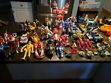 MASSIVE 50 Plus Vintage 1990's Power Rangers Transformers Action Figures parts