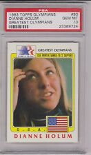 RAREST 1983 TOPPS OLYMPIANS DIANNE HOLUM CARD #90 ~ PSA 10 ~ POP 1 SPEED SKATING