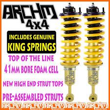 MITSUBISHI TRITON ML MN FRONT LIFT KIT ARCHM4x4 FOAM CELL STRUTS + KING SPRINGS