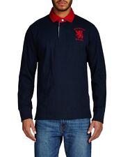 Hackett H.R.F.C. Logo Rugby Shirt Navy Long Sleeved  55% Off RRP - Medium