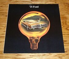 Original 1971 Ford Full Size Car Sales Brochure 71 LTD Galaxie 500 Custom