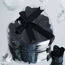 47 Black Gift Boxes with HEART ROSE PETALS SOAPS Wedding Party FAVORS  NEW