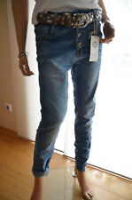 Karostar Lexxury Jeans Hose Boyfriend 38-48 Big grau Knöpfe 2RV Italy Style Neu