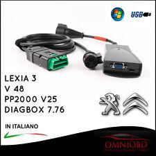 AUTO DIAGNOSI PROFESSIONALE LEXIA 3 SPECIFICO PER CITROEN PEUGEOT DIAGBOX V7.76