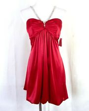 NWT new B. Darlin Rhinestone Top Minidress Dress Formal Rhinestones sz 5/6