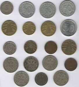 Mix Of Old Germany Coins   European Coins   Pennies2Pounds