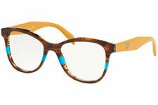 PRADA Eyewear PR12TV 2581O1 53 Striped Brown Eyeglasses
