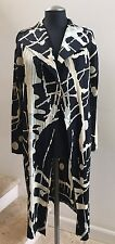 NWOT PLEATS PLEASE by ISSEY MIYAKE Pleated Long Jacket in Black/Beige, Size 3