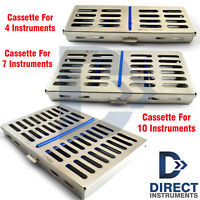 Dental Instrument Cassettes Holders Rack Tray Box Sterilization Autoclave 4-7-10
