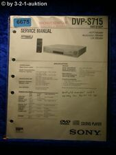 Sony Service Manual DVP S715 CD/DVD Player (#6675)