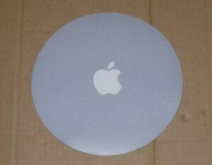 Apple Computer White Logo Gray Mouse Pad - NEW (slight imperfections)