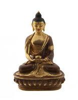Estatua Tibetano Buda Amitabha Cobre Y Oro Nepal Buda AFR9-4639