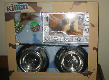Kitten Starter Pack for Cats Bowls, Placemat, Toys, & Picture Frame Gift Set NEW