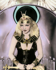 """CLAUDETTE COLBERT CLEOPATRA 1934 HOLLYWOOD ACTRESS 8x10"""" HAND COLOR TINTED PHOTO"""