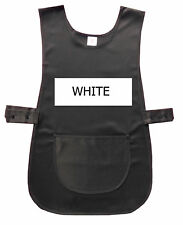 White Tabard / Tabbard Apron - Catering, Cleaning, Work Wear, Uniform-  S/M/L/XL