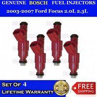 0280156161 for 03-07 Ford Focus 2.0L 2.3L Cali 4 OEM Bosch Fuel Injectors Set