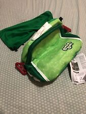Bubble Bum Car Booster Seat Green Inflatable Portable Backless, Safety Seat