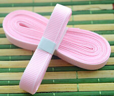 "Pink 5yds 3/8"" (10 mm)Solid Grosgrain Ribbon Hair Bows Ribbion"
