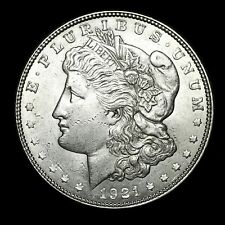 1921 D ~**ABOUT UNCIRCULATED AU**~ Silver Morgan Dollar Rare US Old Coin! #442