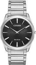 Citizen AR3070-55E Men's Eco-Drive Stiletto Ultra Thin Stainless Steel Watch