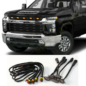 For Chevrolet Silverado 3500 HD 2020-21 Grille LED Light Raptor Style Grill 5Pcs