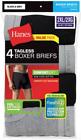 4pk Hanes TAGLESS Boxer Briefs 2XL Comfort Soft With Flex Waistband