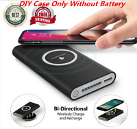 50000mAh Wireless Chager DIY Case Power Bank Dual USB External Battery For Phone