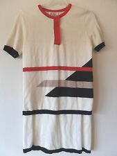 Vtg R&K Originals Womens M 6-8 2-Piece Thin Knit Sweater Dress Cream Top & Skirt