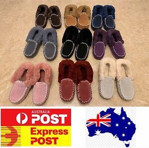 UGG Sheepskin Moccasin Slippers, 100% Sheepskins, Ladies Size, AU stock