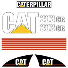 CAT 303CR Decals, aftermarket 303CR stickers