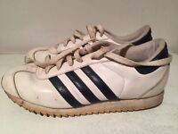 Womens Adidas Originals Country Ripple White Leather Trainers UK 5 2004 Vtg