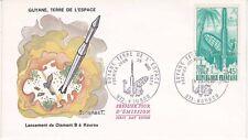Enveloppe maximum 1er jour FDC 1970 - Guyane Terre de l'Espace Kourou