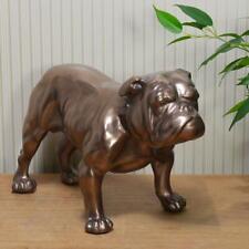 More details for british bulldog large standing bronze dog figurine