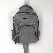 """New listing Pottery Barn Kids Small Fairfax Grey Solid Backpack Monogram """"Will�"""