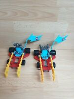 2 x Rare Vintage Ghostbusters Ecto 3 vehicles for figures - spares / repairs